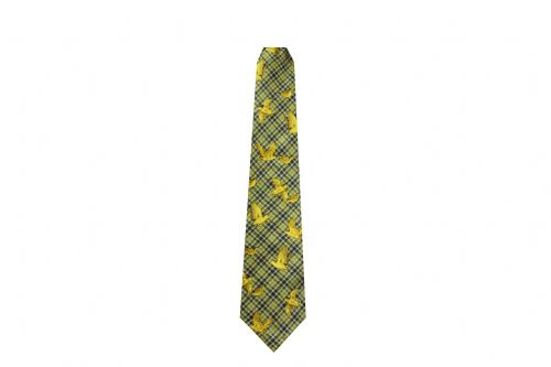Bisley Silk Tie - Green Woodcock (JR-BIT24)